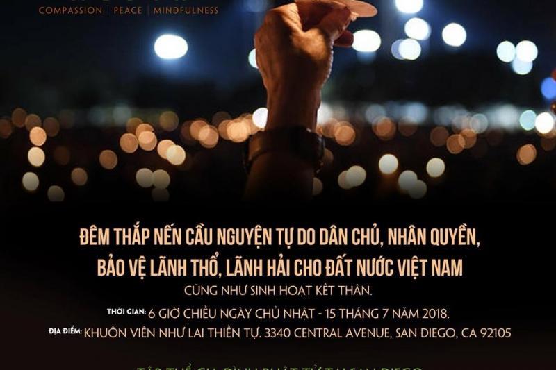 Lễ thắp nến cầu nguyện cho Quê hương Việt Nam